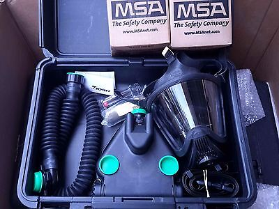 MSA C420 Responder PAPR w/Ultra Elite CBRN Gas Mask, NBC Filters & Case NEW!