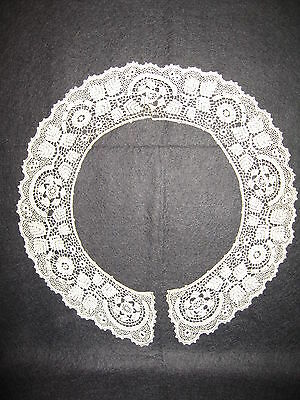 LP15 Antique Crochet Trim Fashion Dress Collar Doll Lace Country Crafts 12X2.5""