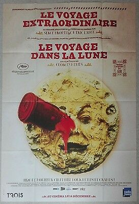 2011RR A TRIP TO THE MOON Georges Melies 47x63 French Film Poster