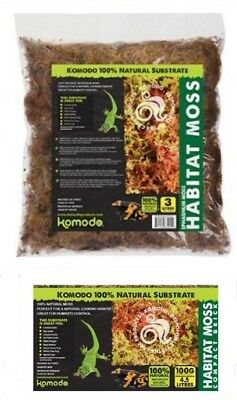 Komodo Substrate SPHAGNUM MOSS 100% Natural Substrate Habitat Moss