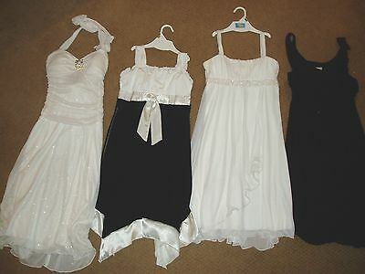 "Beautiful & Stunning, Girl's, lot of 4, ""SLEEVELESS PARTY DRESSES"", size 12/14"