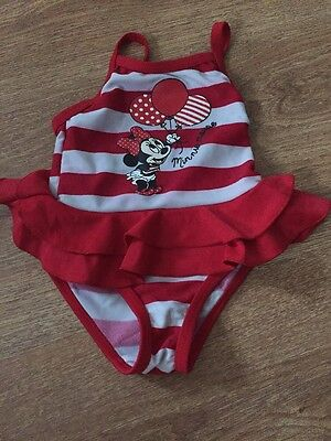 Minnie Mouse Baby Swimming Costume Age 0-3 Months