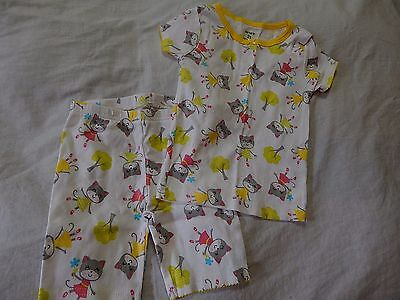 Nwot Size 2T Carter's Summer Two Piece Pajamas Top Shorts