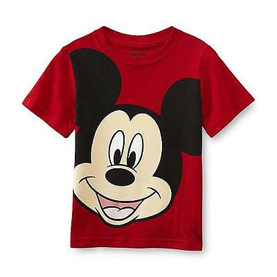 Disney Baby Boy's Graphic T-Shirt Mickey Mouse Short Sleeve Infant 24 Months New