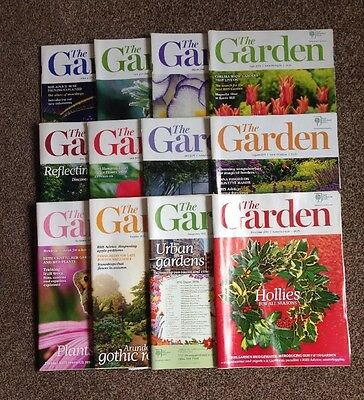 "2015, RHS Royal Horticultural Society ""The Garden Magazine"" Complete Year 2016"
