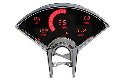 Chevy Bel Air DIGITAL DASH PANEL FOR 1955-1956 Gauges Intellitronix Red LEDs!!