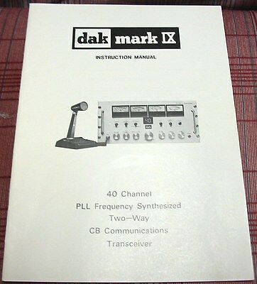 M.H. Scott DAK Mark IX AM Owners Manual - Alignment Information - Schematics