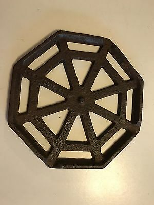 Antique Cast Iron Spider Webb Trivet