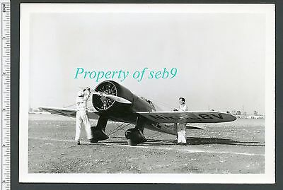 1933 L.A. Air Races DICK WHITTINGTON Photo ~ WEDELL-WILLIAMS 92 RACER & CREW