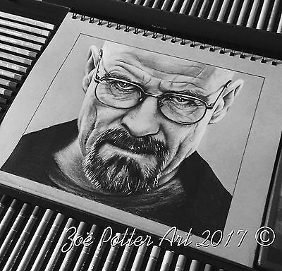 Breaking Bad, Walter White, Pencil Drawing, Art, A4 Print