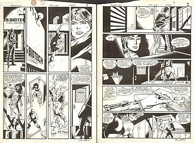 Booster Gold #17 pgs.1 & 2 - Sold as a pair - 1987 art by Dan Jurgens