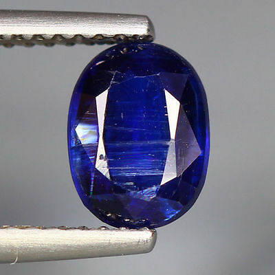 "1.67 Cts_World Class Very Rare Gem_100 % Natural Royal Blue Kyanite""un-Heated"""