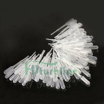 100 PCS 3ml Disposable Graduated Pastier Pipet Transfer Pipettes for Experiments