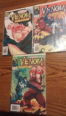 Lot of 3 Venom Comic Books. The Madness  1,2 and 3. Complete.