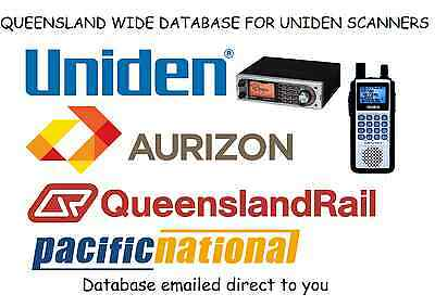 Aurizon Queensland Rail Qr Database Uniden Scanner Ubcd396Xt Ubcd996T Ubcd396T