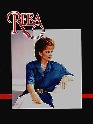 REBA McENTIRE 1987 THE LAST ONE TO KNOW TOUR CONCERT PROGRAM BOOK / EX 2 NMT