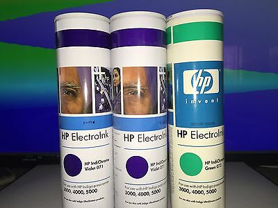 16 cans of HP Indigo Inks 1 Black and 15 mixed colors