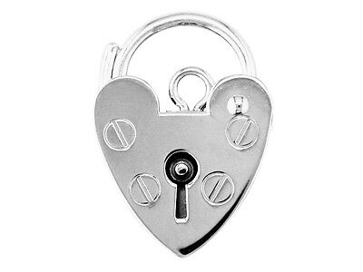 Sterling Silver 925 Padlock Clasp 7mm 9mm 11mm 13mm 15mm 18mm UK Made Findings