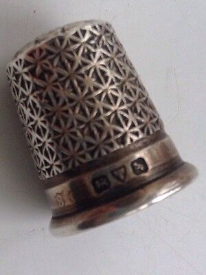 ANTIQUE Victorian SOLID SILVER THIMBLE - Chester