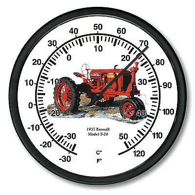 """New McCormick Farmall 1937 Model F-20 Tractor Wall Thermometer 10"""" Round"""
