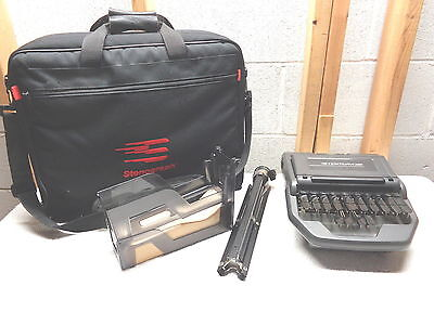 Stenograph STENTURA 200 & Bag~Tripod~Tray With Paper~Court Reporting Diction
