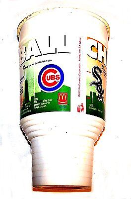 Vintage McDonalds Ronald Chicago City Series Baseball Cup Happy Toy Gift Card