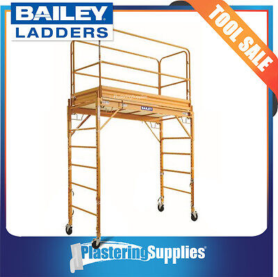 Bailey Scaffold Mobile Steel Scaffolding with Guard Rail Kit FS13565/66