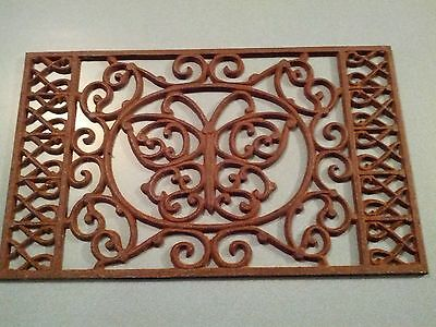 Antique Vintage BUTTERFLY Ornate Cast Iron Floor Wall Vent Grate Register