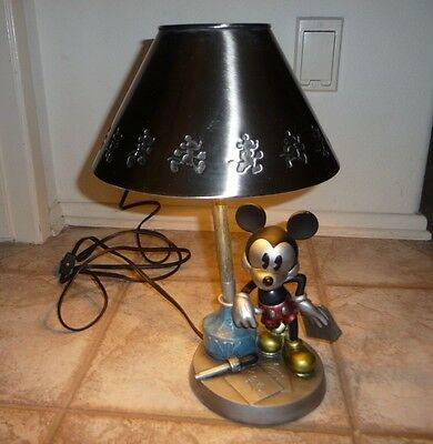Vintage Disney Mickey Mouse Tabletop  Lamp Shade Night Light by Hampton Bay