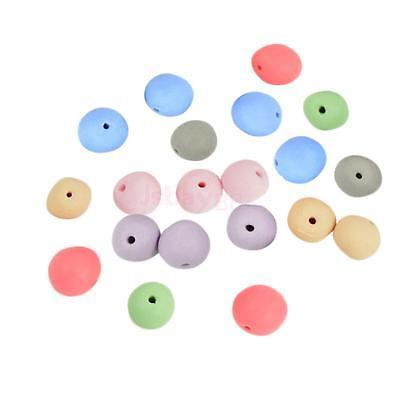 20Pcs Candy Color Clay Ceramic Porcelain Loose Spacer Beads Jewelry Makings