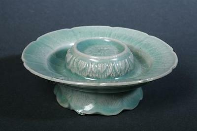 A Rare/Very Finely Incised Korean Sea-Green Celadon Glazed Cup-Stand-12th C.