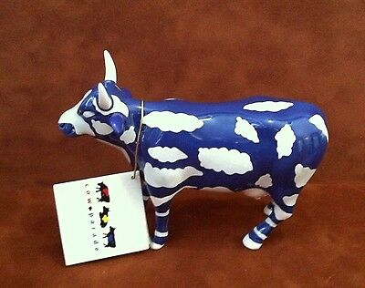 COW PARADE ~ SKY COW ~ Blue & White ~ 2000 Collectible Figurine ~ RETIRED