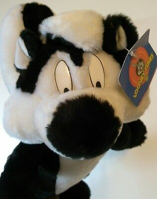 "13"" inch Pepé Le Pew Stuffed/Plush, Looney Tunes, 1997 Warner Bros."