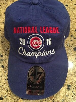 13950a2ed15 Chicago Cubs 47 Brand Clean Up Hat OSFA 2016 National League Champions  Brand New