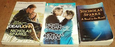 """NICHOLAS SPARKS """"ROMANCE"""" PAPERBACK COLLECTION - Lot of 3 - Great Reads!!"""