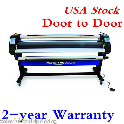 "USA Stock!! 67"" Full-auto Wide Format Single-Side Heat-Assist Cold Laminator"