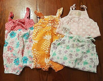 Girls baby bulk lot summer rompers sunsuits size 000 Carter's Dymples