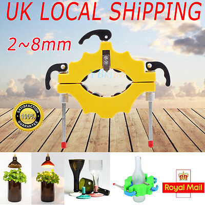 Adjust Beer Glass Bottle Cutter Tool Craft Cutting Kit Jar Machine Yellow Color