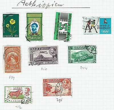 Ethiopia  small collection  from overseas collector on old album sheet