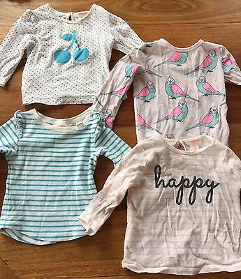 Country Road Baby Girls Long Sleeve T-shirts Size 00 3-6 Mon