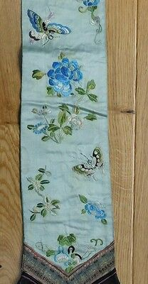 Two Antique Embroidered Chinese Silk Panels