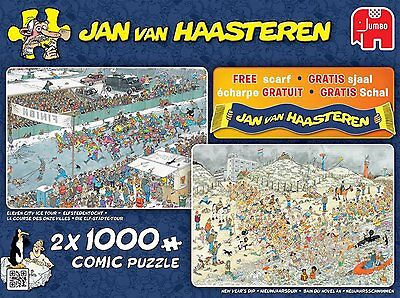 Jumbo 619035. Puzzle. Winter Fun. Jan Van Haasteren. 2x1000 piezas