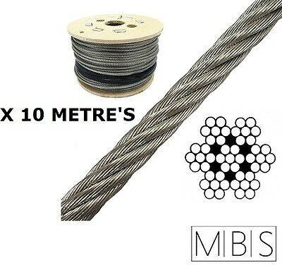 Stainless Steel 1mm  7x7 49 Strand Wire for Fishing Trace 10 metre - FREE POST