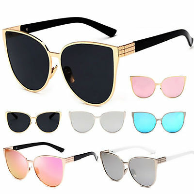 Fashion Retro Women Cat Eye Sunglasses Vintage Shades Oversized Designer Eyewear