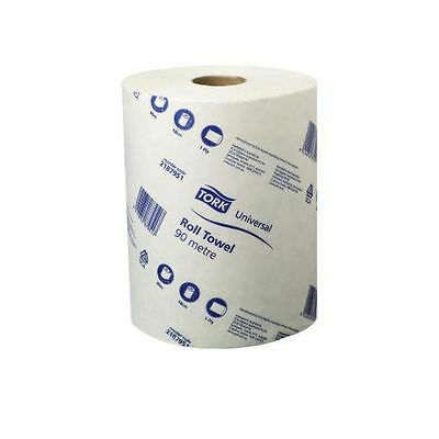 Paper Hand Towels Tork Towel Roll Bulk Industrial Kitchen White 90m 1Ply