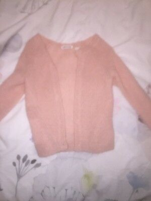 Country Road Baby Girl Peachy Pink Knit Cardigan Size 18-24