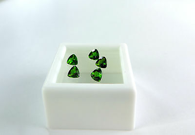 5 pc Trillion Diamond Cut Russian Chrome Diopside 1.20tcw faceted by me :)
