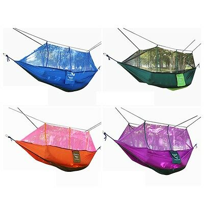 Mosquito Net Double Hammock Stitching Color Lightweight Military Camping E#