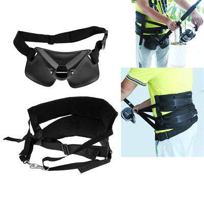 Stand Up Offshore Fighting Harness Belt Waist Support + Fishing Rod Holder