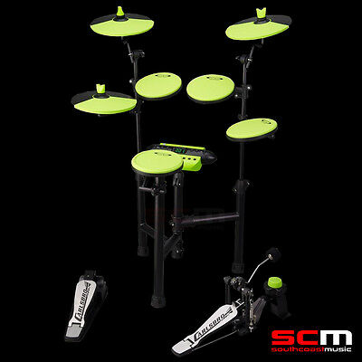 Brand New Carlsbro Csd130 Electric Drumkit Compact 5 Piece Electronic Drum Kit
